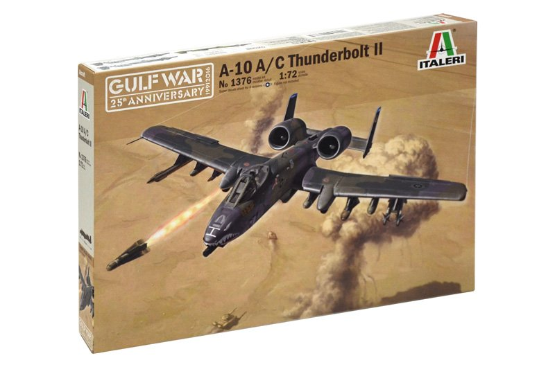 "Aircraft 1/72 A-10 A/C THUNDERBOLT II ""GULF WAR"" - ITALERI referencia IT1376 IT1376"