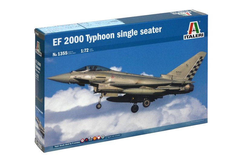 Aircraft 1/72 EF-2000 Typhoon Single Seater - ITALERI  referencia IT1355 IT1355