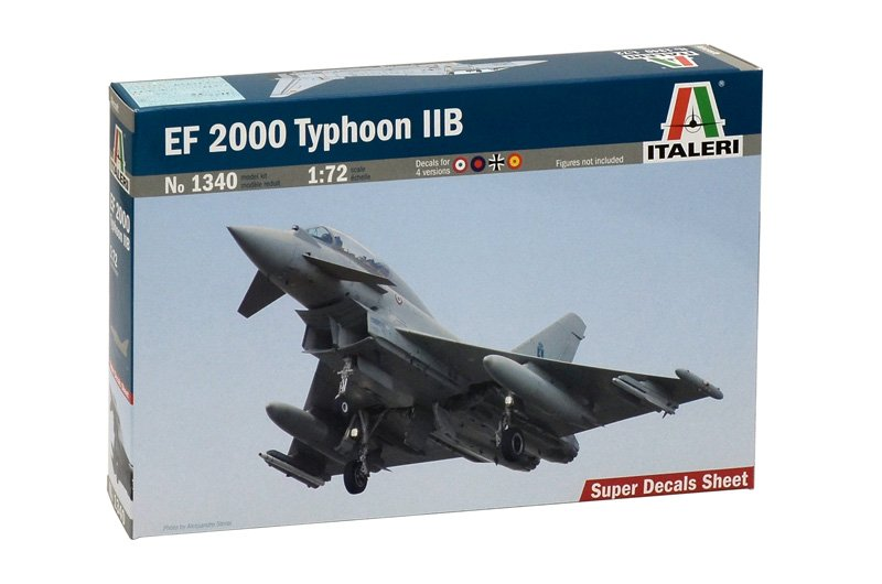 Aircraft 1/72 EF 2000 TYPHOON with seater - ITALERI referencia IT1340 IT1340