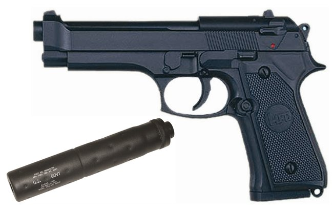 ARMA MANUAL TIPO BERETTA 92F referencia 22 22N