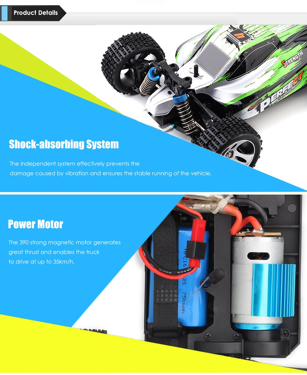 Coche rc buggy 1/18 RTR 2,4Ghz Storm 35km/h WLToys referencia A959-A A959-A