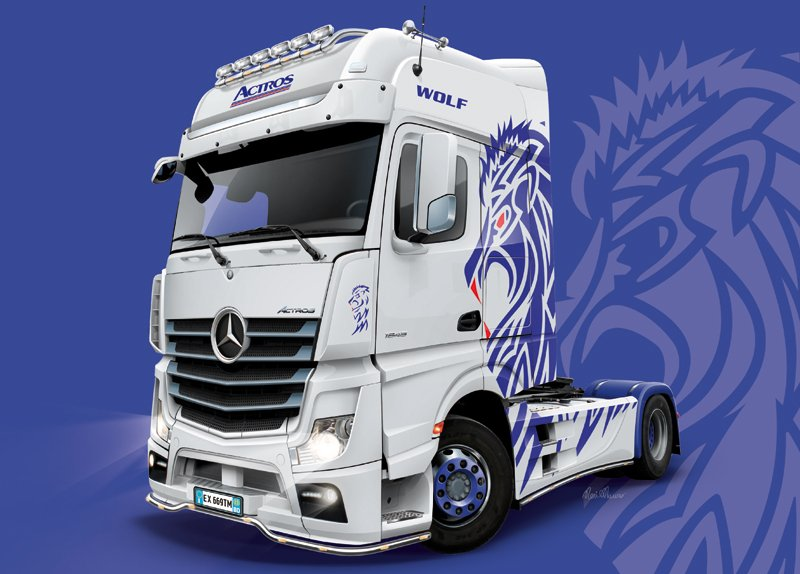 Camion 1/24 Mercedes-Benz ACTROS MP4 Giga Space - ITALERI referencia IT3935 IT3935