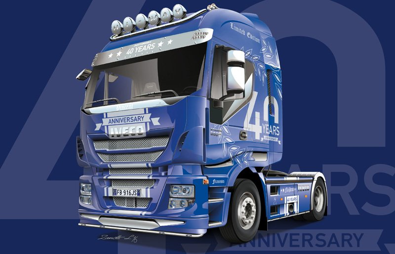 Camion IVECO 1/24 HI-WAY 40th anniversary - ITALERI referencia IT3919 IT3919