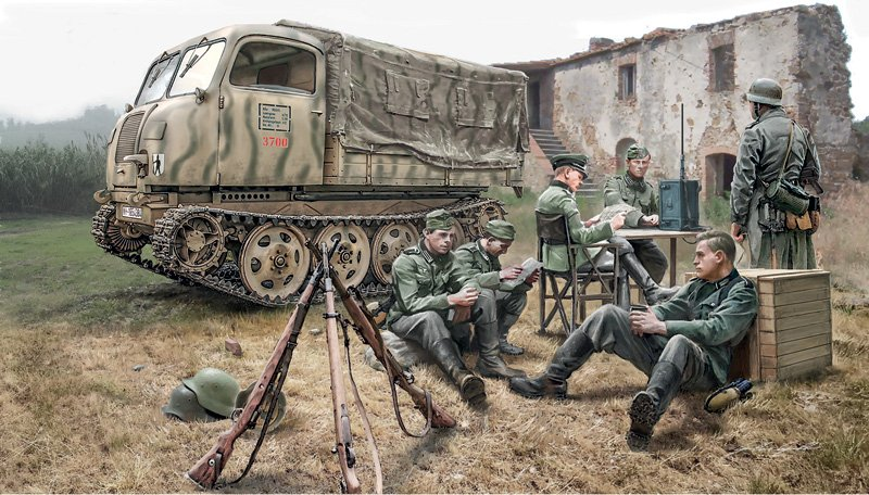 Camion militar 1/35 Steyr RSO/01 with german soldiers - ITALERI referencia IT6549 IT6549