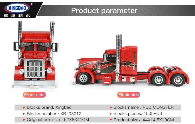 CAMION RED MONSTER XINGBAO referencia XB03012 XB03012