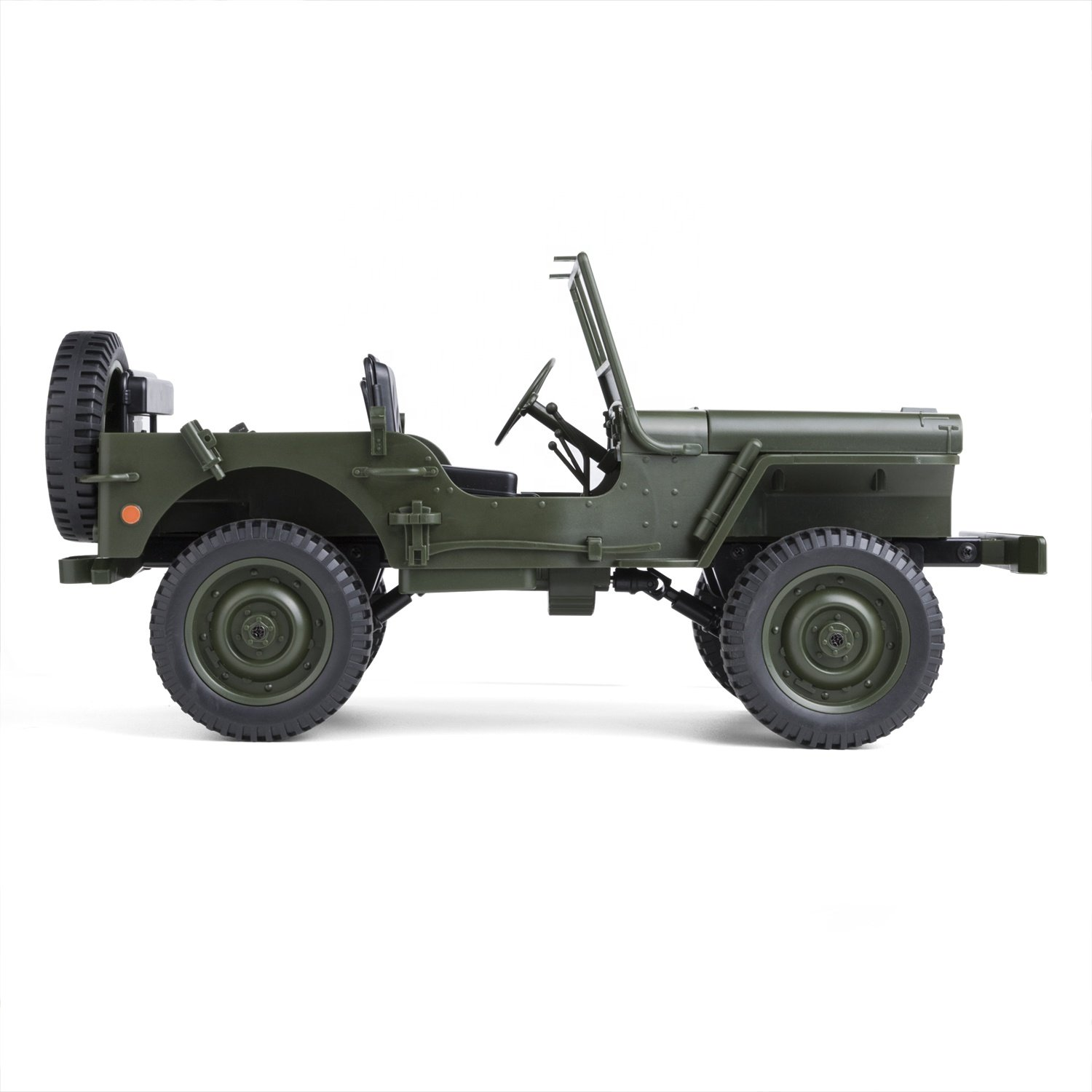 COCHE MILITAR JEEP WILLYS 1/10 RC referencia C606 C606