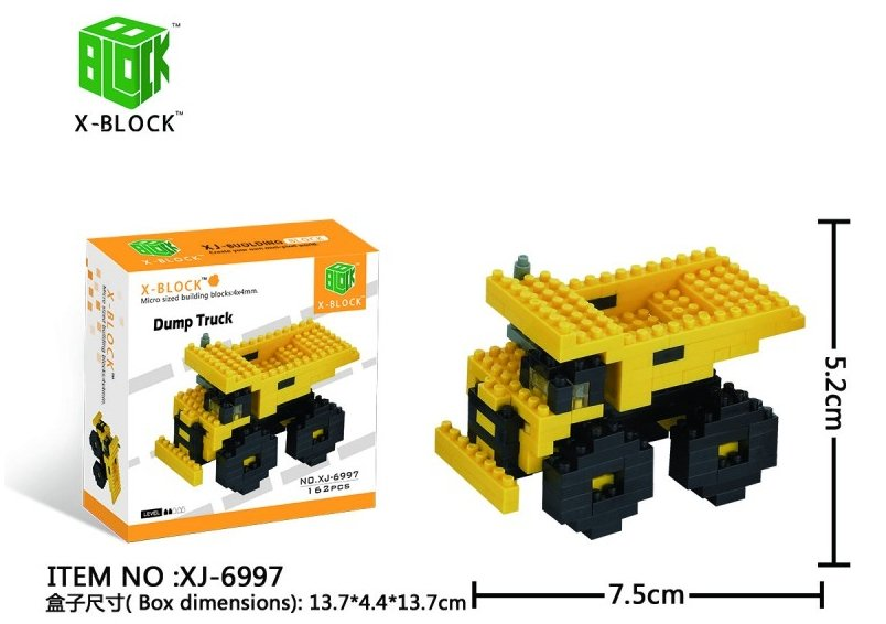 DUMP TRUCK X-BLOCK 4 MM referencia XJ6997 XJ6997