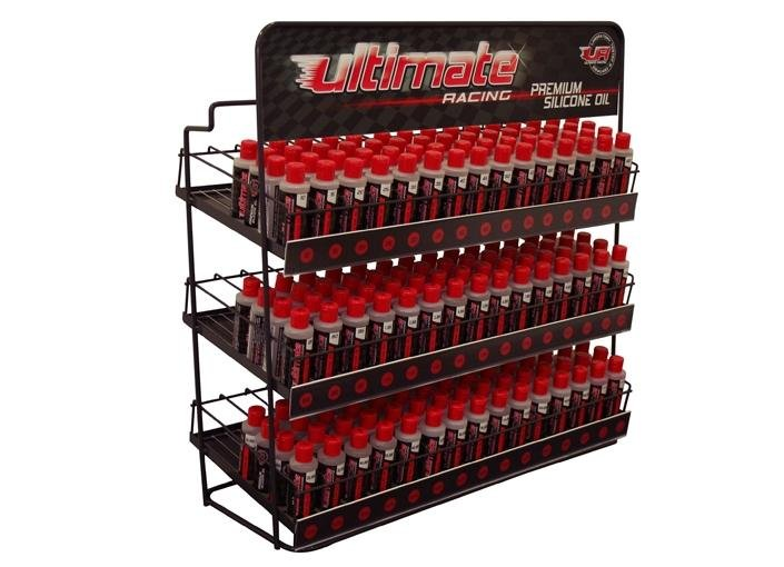 EXPOSITOR METALICO ULTIMATE RACING ACEITES SILICONA referencia UR9201 UR9201