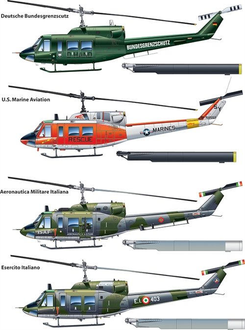 Helicoptero militar 1/48 AB 212 / UH 1N - ITALERI referencia IT2692 IT2692