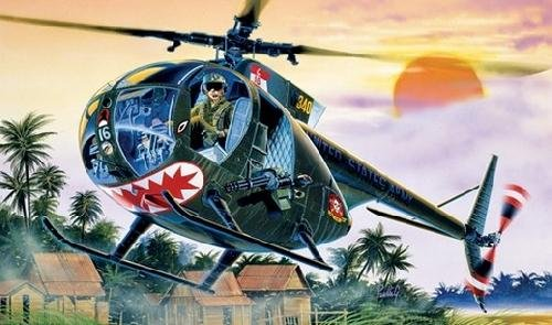 Helicoptero militar 1/72 OH-6 A Cayuse - ITALERI referencia IT1028 IT1028
