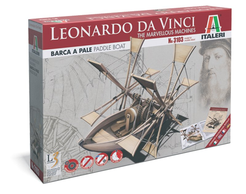 Leonardo Da Vinci Paddle Boat - ITALERI referencia IT3103 IT3103