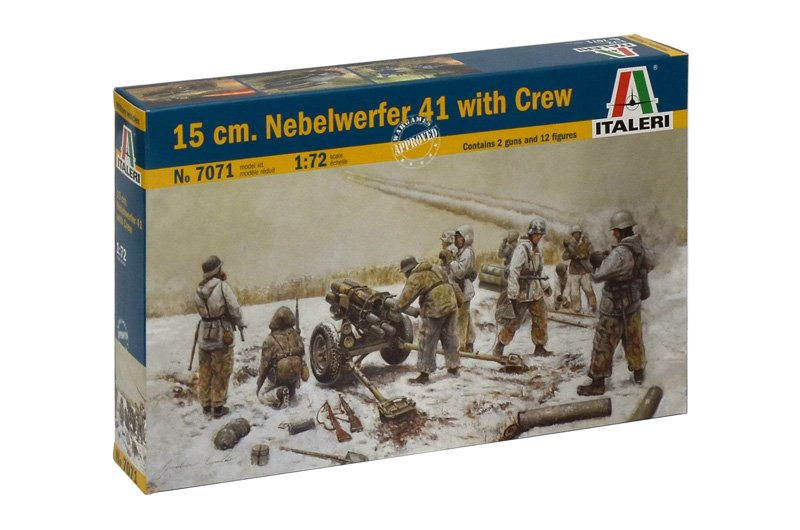 MILITARY VEHICLE 1/72 15 cm. NEBELWERFER 41 with CREW referencia IT7071 IT7071
