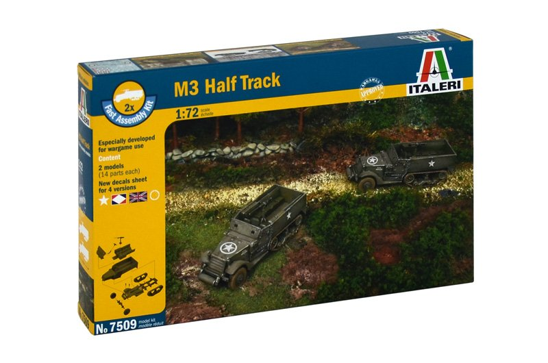 Camiones militares 1/72 M3 Half Track (2 fast assembly mod) ITALERI referencia IT7509 IT7509