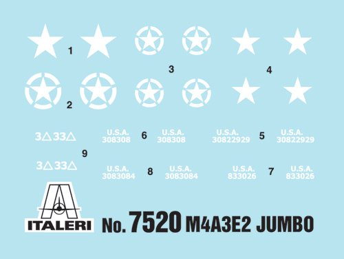 "Tanque 1/72 M4A3E2 ""Jumbo"" (2 fast assembly mod.) ITALERI referencia IT7520 IT7520"