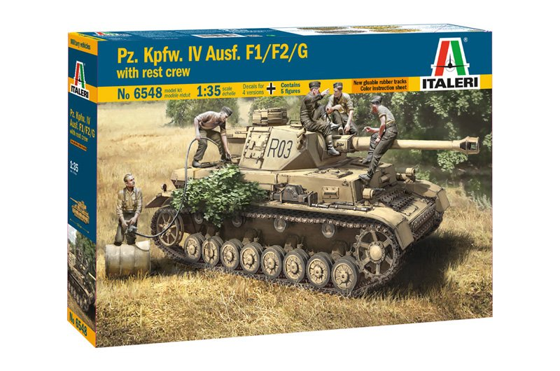 Tanque 1/48 PZ. IV F1/F2/G with Ass. Troops - ITALERI referencia IT6548 IT6548