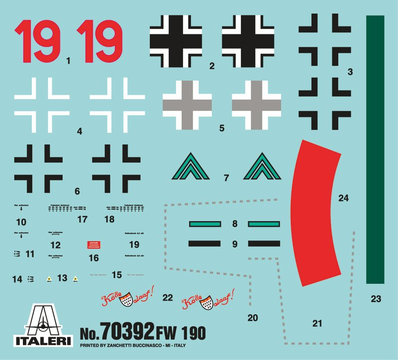 Model Set avion 1/72 FW 190-A8 / F8 - ITALERI referencia IT70392 IT70392