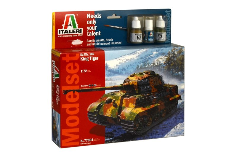 Model set tanque T 1/72 Sd.Kfz. 182 King Tiger (WWII) - ITALERI referencia IT77004 IT77004