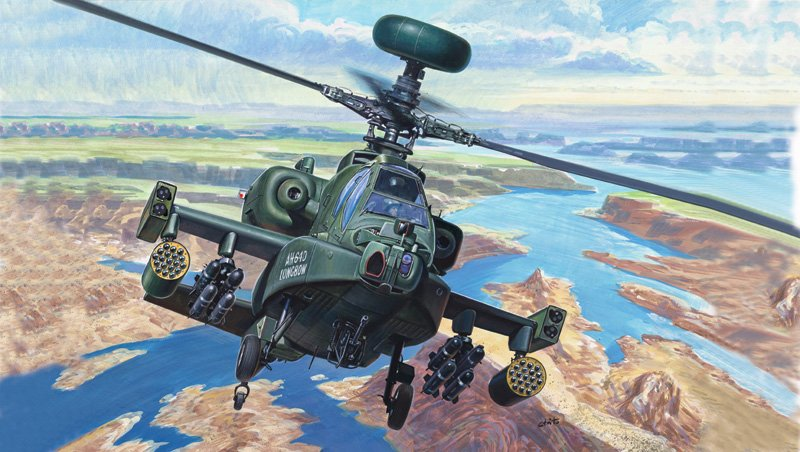 Model set helicoptero AH - 64 Apache 1/72 - ITALERI referencia IT71080 IT71080