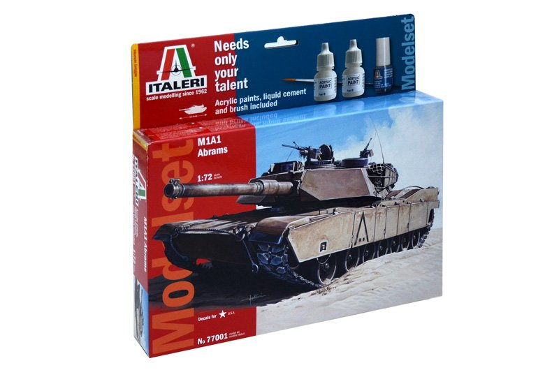 Model set tanque M1 Abrahams 1/72 - ITALERI referencia IT77001 IT77001