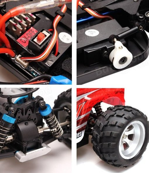 Coche rc monster truck 1/18 brave pro 70 km/h WLToys referencia A979-B A979-B
