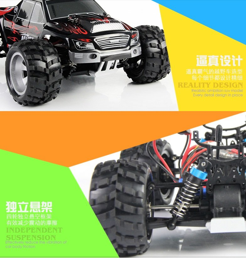 Coche rc monster truck 1/18 RTR 2,4Ghz Vortex WLToys referencia A979 A979