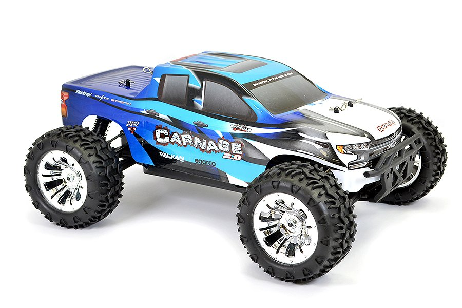 MONSTER TRUCK CARNAGE 2.0 1/10 BRUSHED AZUL referencia FTX5537B FTX5537B