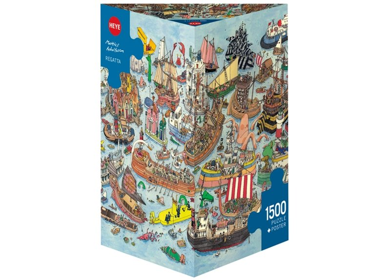Puzzle 1500 piezas, Regatta, Adolfssondes (Triangular) referencia 29891 29891