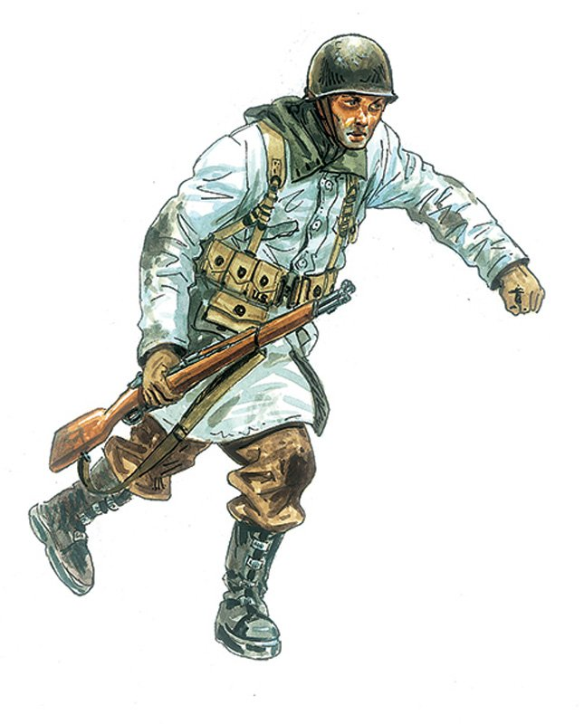 SOLDIERS 1/72 WWII US INFANTRY WINTER UNIFORM referencia IT6133 IT6133