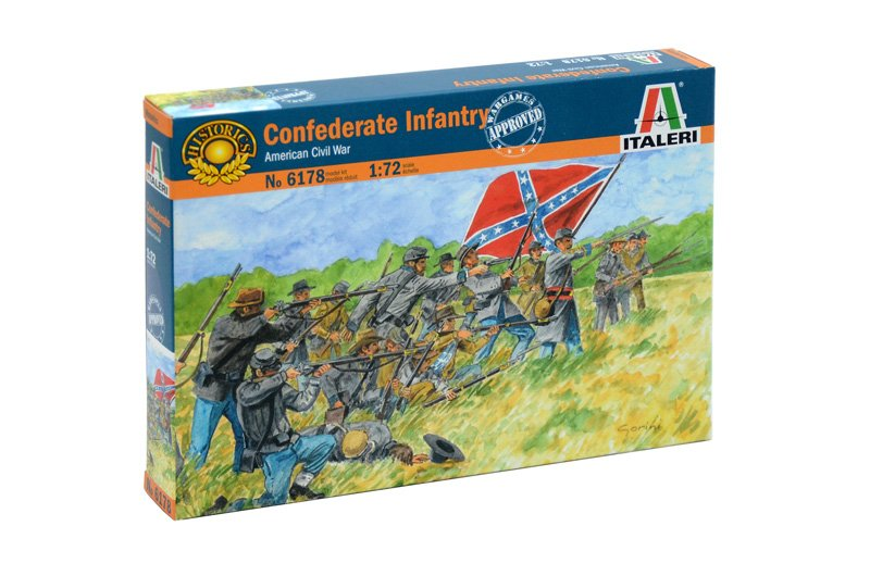 HISTORICS 1/72 AMERICAN CIVIL WAR CONFEDERATE INFANTRY referencia IT6178 IT6178