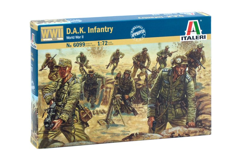 SOLDIERS 1/72 WWII D.A.K. INFANTRY referencia IT6099 IT6099