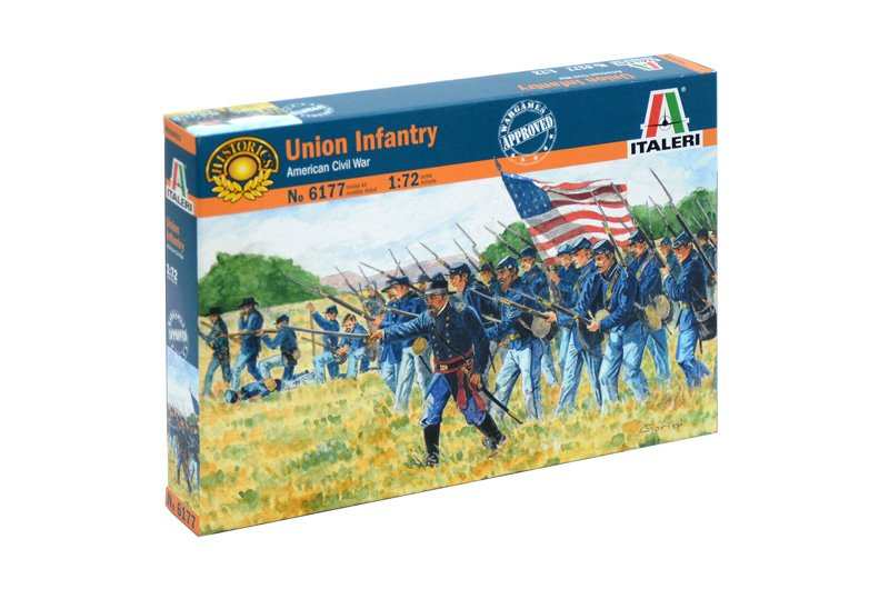 HISTORICS 1/72 AMERICAN CIVIL WAR UNION INFANTRY referencia IT6177 IT6177