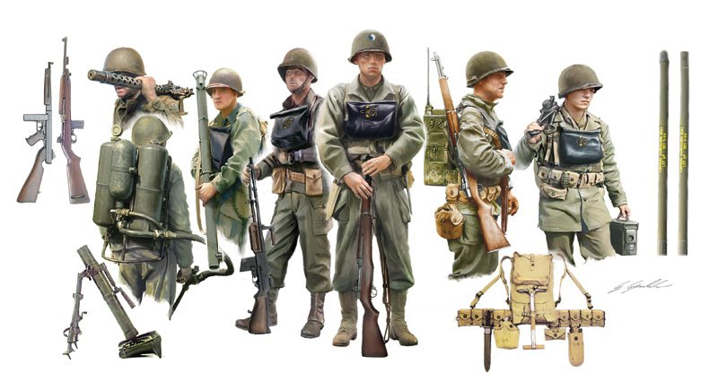 SOLDIERS 1/35 U.S. INFANTRY ON BOARD referencia IT6522 IT6522