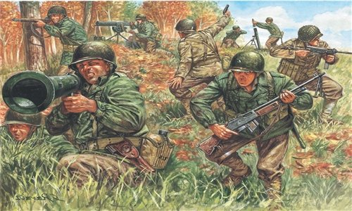 SOLDIERS 1/72 'WWII- AMERICAN INFANTRY referencia IT6046 IT6046
