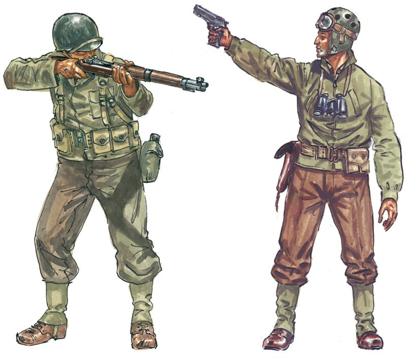 SOLDIERS 1/72 WWII- AMERICAN INFANTRY - ITALERI referencia IT6120 IT6120