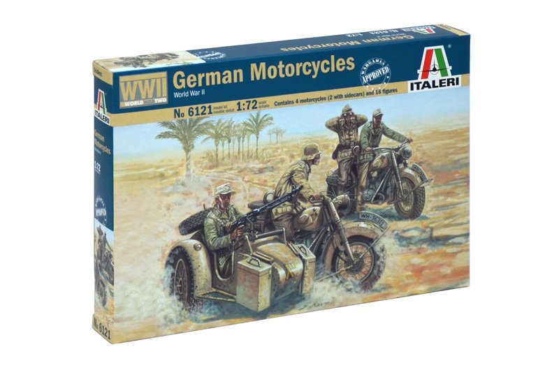 SOLDIERS 1/72 WWII- GERMAN MOTORCYCLES referencia IT6121 IT6121