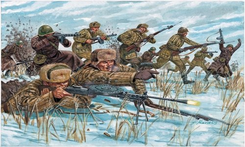 SOLDIERS 1/72 WWII-RUSSIAN INFANTRY (WINTER UNIF) referencia IT6069 IT6069